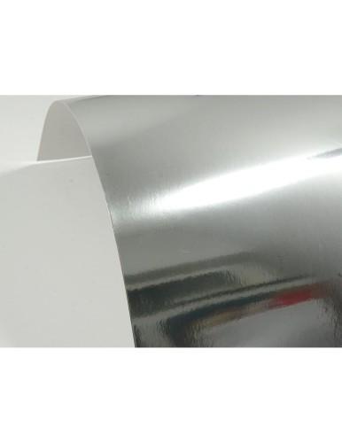 Papier ozdobny lustro Mirror Silver 300g srebrny lustrzany A4